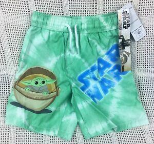 Star Wars The Mandalorian Child Boys Board Shorts Swim Trunks Swimwear Size 4T