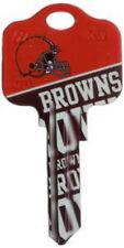 NFL CLEVELAND BROWNS  KW-1 House Key Blank Kwikset