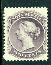 Canada 1860 Nova Scotia 2¢ Queen Victoria Yellow Paper Sc 9a Mint R75