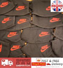 Nike Face Mask Black & Red Swoosh Soft Cotton, Unisex Washable & Breathable