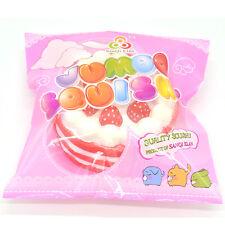 11CM Jumbo Squishy Birthday Strawberry Round Cake Amazing Slow Rising Scented