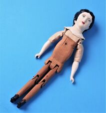 Nice Vintage Bisque Wood Articulated Handmade Doll
