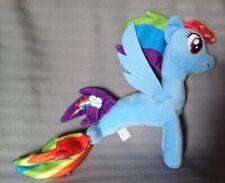 "11"" Soft Plush Rainbow Dash Sea Pony From My Little Pony Movie/Film"