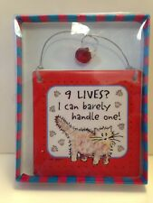 "Nine Lives? I Can Barely Handle One! * Cat Wall Tile Tumbleweed Pottery 5""x5"""
