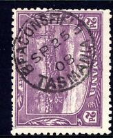 Tasmania nice 1908 BEACONSFIELD pmk (type 1) on 2d pictorial rated V/C (1)