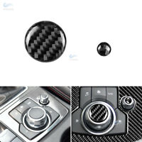 2*Carbon Fiber Control Multimedia Button Volume Cover For Mazda 3 CX-5 M3 M6 17+