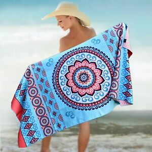 """BEACH TOWEL - MANDALA CORAL 78x35"""""""