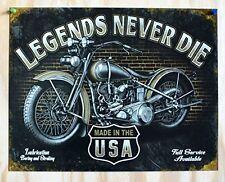 Motorcycle Vintage Tin Sign Retro Garage Wall Art Man Cave Den Home Decor 16x12