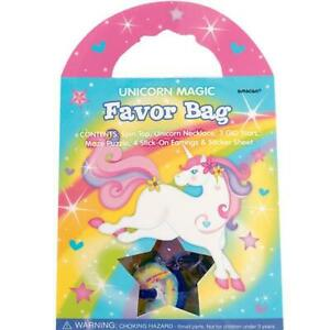 NEW Unicorn Magic Favour Bag (each) Partyware Gifts School