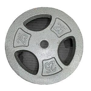 CAP Barbell Standard Grip Weight Plate 25lbs (11 Height, 1.25 Width 1 Hole) Inch