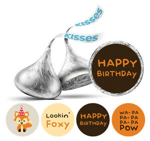 Darling Souvenir Birthday  Stickers Hershey's Kisses Candy Party Favor-DS-KS165