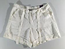 Lane Bryant Women's Shorts Linen Rayon Color White Size 18/20
