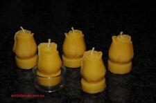 5 Luz De Té Velas Cera abeja ROSAS Luces Té 100% 1 Vidrio para Candelita