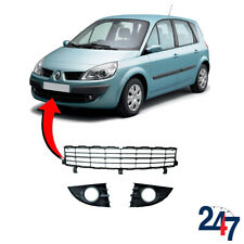 NEW RENAULT SCENIC 2006 - 2009 FRONT BUMPER LOWER GRILL SET 7701477302