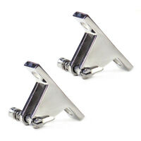 2pcs Stainless Steel Bimini Top 90 degree Deck Hinge with Quick Release Pin