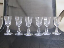"Waterford Cut Glass ""Kylemore"" Cordial - Liqueur Glasses 3 7/8"" Clear Crystal"