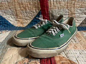 VTG 80s Made in USA Vans Authentic Green sz 12 Shoes Era 90s