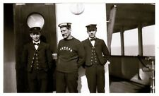 Rare First Generation Photograph of Carpathia Crew on Day They Rescued Titanic