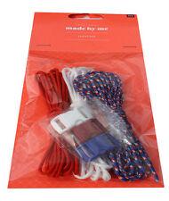Gefädelte Modeschmuck-Armbänder aus Stoff