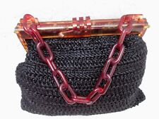 Rétro vintage sac à main noir bag année 70'