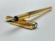 Vintage Montblanc Noblesse Gold No.1147 20K Gold Finish Fountain Pen