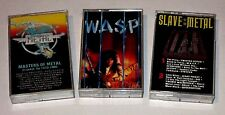 METAL LOT OF 3 CASSETTE TAPES WASP SLAVE TO THE METAL MASTERS OF METAL VG+ USED