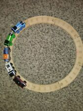 Thomas The Train Set Lot 5 Train Car Engine 8 Wooden Tracks