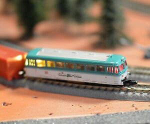 Z Scale Marklin Powered Railbus out of set 8112 w/ Front & Rear Yellow/Red LEDs