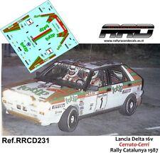 DECAL/CALCA 1/43; Lancia Delta 16v; Cerrato-Cerri; Rally Catalunya 1987