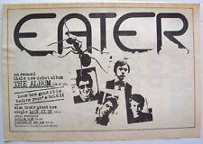 EATER 1977 PROMO ADVERT THE ALBUM punk LOCK IT UP