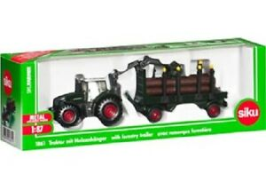 Siku Diecast Model 1:87 Scale - 1861 Fendt With Forestry Trailer Normally $29.95
