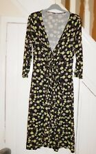 PHASE EIGHT, SIZE 12 - 3/4 SLEEVE V NECK SPOTTED WINTER DRESS