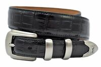 PGA Tour Men's Black Alligator Print Leather Belt - Sizes 34 - 44 (New w/Tags)