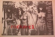 SLITS Cut Tour 1979 UK Press ADVERT 12x8 inches