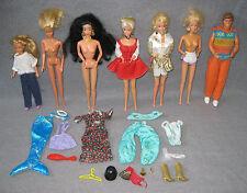 Barbie Set mit 6x Barbie und 1x Ken 80er Jahre Puppen mit Kleidung Vintage