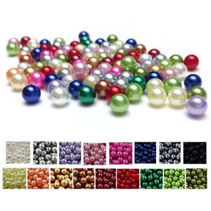 1.000 Dekoperlen Vorteilspackung Kunstperlen Kunststoffperlen lose Perlen Perle
