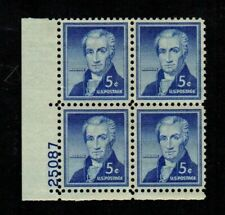 New Listing#1038 - 5¢ James Monroe Issue - Mnh Plate Block 4