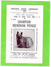 Champion Mendham Prince Yorkshire Toy Terrier  Dog  Harringay London
