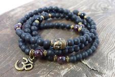 6mm Obsidian 108 Buddha Beads Bracelet