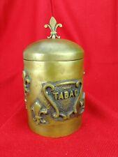 Grand Pot à Tabac en Bronze ancien ,Fleur de Lys ,  Tabatière...