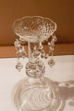 Acrylic Bobeche Candle Ring Candelabra Set of 6 Cut Crystal Look Beaded