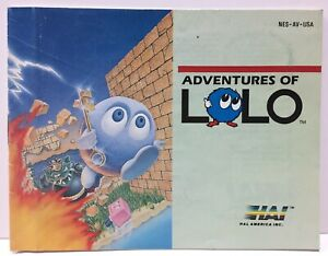Adventures of Lolo Instruction Booklet Manual Only for Nintendo NES NTSC By Hal