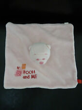 M16- DOUDOU PLAT OURS WINNIE ROSE DISNEY CARREFOUR POOH AND ME - TTBE