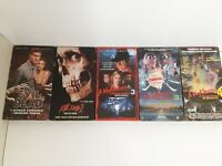 VHS Horror Lot 5 Nightmare On Elm Street 3 & 4 Evil Dead 1 & 2