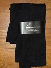 ****LANE BRYANT CONTROL TOP FOOTLESS LEGGING BLACK SIDE LACE SIZE A/B NWT