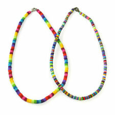 Colliers et pendentifs fantaisie multicolores en perle