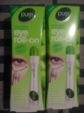 Pure Eye Roll on Cucumber Caffeine Dark Circles Undereye Bags Tired Skin Fatigue