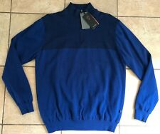 Ping Golf Mens Lined Half-Zip Sweater-Knight-S03221-Mid night-Large-Nwt