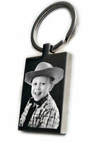 Personalised St. Steel Keyring Photo Engraved FREE P&P | Christmas Gift
