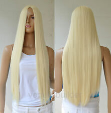 28'' Long Blonde Straight Cosplay Party Hair Wig 613#